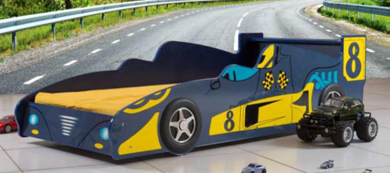 Poshtots Blue Le Mans Race Car