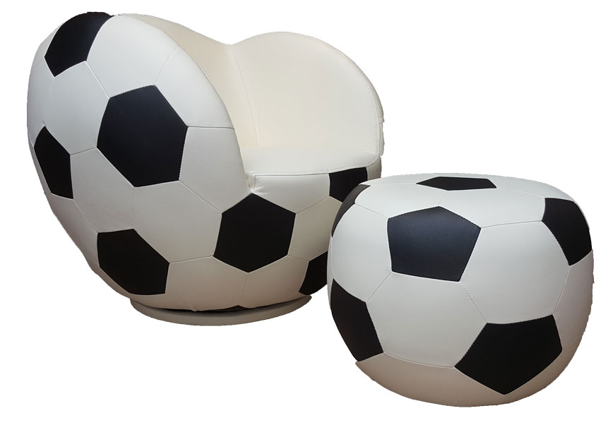 Poshtots Soccer Ball and Ottoman