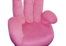 Poshtots Pink Mandarin Chair