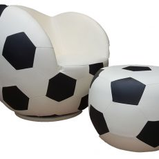 Poshtots Soccer chair with Ottoman