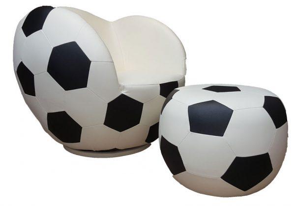 Poshtots Soccer chair with Ottoman