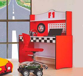 F1 Red Study Desk