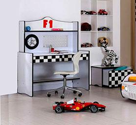 F1 White Study Desk